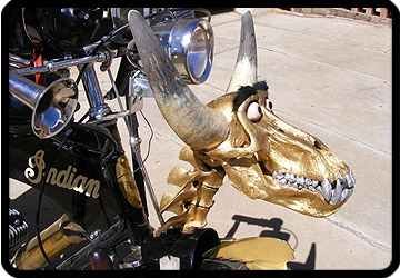 baboon skull motorized bike